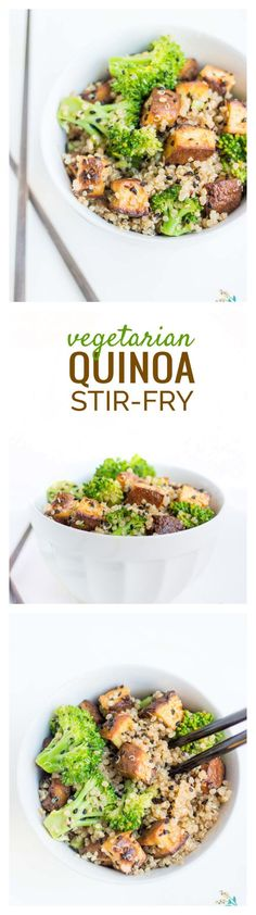 idea: this #vegetarian quinoa stir-fry made with CRISPY baked tofu ...