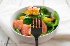 Spinach Citrus Salad with Grapefruit Vinaigrette -- From Gate to Plate -- SundaySupper