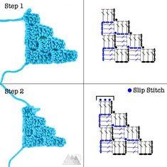 Corner to Corner Crochet for Beginners - Winding Road Crochet Crochet C2c, Crochet Bracelet Pattern, Crochet Motif Patterns, Crochet Decrease, Crochet Symbols, Crochet Diagram, Crochet Chart, Crochet Squares, Crochet Crown
