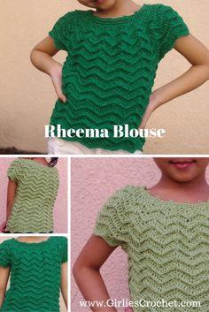Rheema Blouse - Free Crochet Pattern with photo tutorial in each step