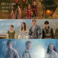 Truer words have never been spoken. Narnia was my childhood. I had the biggest crush on Edmond. Even though nothing has changed, seems different. Thank you Narnia💛 Narnia 2, Narnia Movies, Book Tv, Book Nerd, Book Series, Radios, Rangers Apprentice, The Avengers, Chronicles Of Narnia