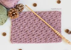 How To: Crochet The Uneven Berry Stitch - Easy Tutorial