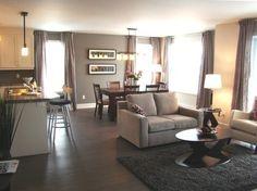 D co salle a manger beige gris d co salon cuisine pinterest - Cuisine et salon aire ouverte ...