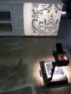 Use overhead projector to put 'traceable' design on furniture/walls by kara.gruby