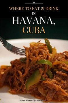 Find all the great places to eat and drink in Havana, Cuba. Havana restaurants. Cuban food.