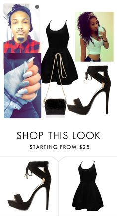 """Date with my friend August Alsina"" by chrissyharris ❤ liked on Polyvore featuring Qupid, WithChic and River Island"