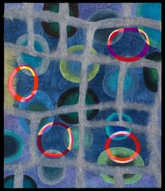 Jenne Giles Felt Paintings: Convivial Series merino wool, yak, silk, mixed media
