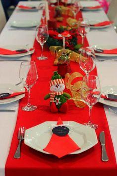 mesa arrumada ceia de natal
