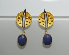 Ohrringe_Ringe_Edelstein_Schmuck _Hand gemacht von SILBERSTEINSONNE Drop Earrings, Etsy, Jewelry, Hand Made, Big Earrings, Gems Jewelry, Rhinestones, Jewlery, Jewerly