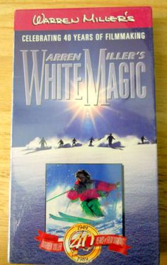 New Warren Miller's White Magic VHS Tape 40th Anniversary Factory Sealed Skiing