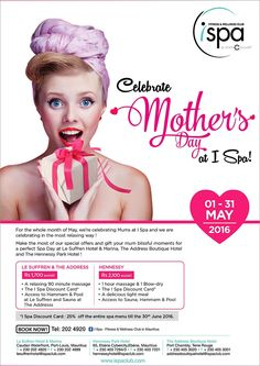 I Spa at Indigo Hotels - May Special: Mother's Day. Tel: 202 4920