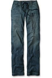 Lightweight Relaxed Denim Pants - Discontinued