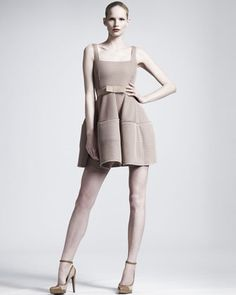Mesh Fit-and-Flare Dress by Lanvin at Bergdorf Goodman.