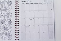 Dolldelightful: Action Coloring Day Planner