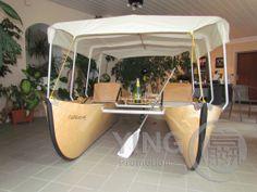 #Faltkatt - Foldable catamaran Made in Austria. Front view www.Faltkatt.eu