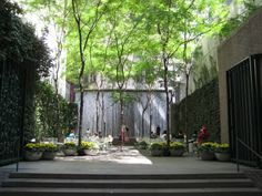"Secret PALEY PARK -NY doesn't have as many gardens as Paris or London, so when you discover them,it's a wonderful surprise. ""pocket park"" is situated on West 53rd between Fifth and Madison been described ""a corner of quiet delights"" and ""an urban oasis"".There are ivy-covered walls, a grand waterfall, an ornate gate & an overhead canopy formed from locust trees. There's even a piece of the Berlin Wall complete with bullet holes. much-welcomed respite after hours striding up & down Fifth…"
