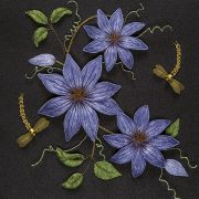 'Clematis' stumpwork by Alison Cole from Inspirations issue 78.