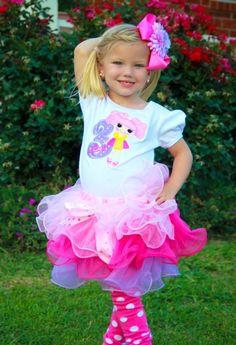 #RK La La Loopsy Birthday Tutu Set by PoshBabyStore.com Outfit idea for Karsyn
