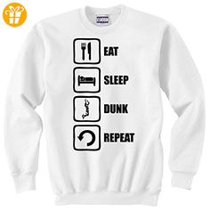 Eat Sleep Dunk Repeat Funny Basketball Graphic Unisex Sweater XX-Large (*Partner-Link)