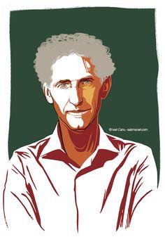 ©Ivan Canu salzmanart.com On RSalute La Repubblica portrait of Alfio Quarteroni mathematician (ad Angelo Rinaldi, design Luigi Pierantoni) #math #cardio #medecine #editorial #portrait