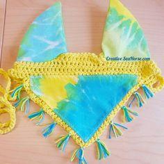 Yellow blue green tie dye tye die horse ear bonnet fly veil Check out this item in my Etsy shop https://www.etsy.com/listing/192571073/yellow-blue-green-tie-dye-horse-ear