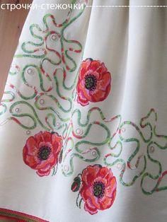 """строчки-стежочки : """"Маков цвет"""" юбка с вышивкой."""