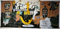 """""""Untitled (History Of The Black People). 1983"""" Jean-Michel Basquiat. Image from studyblue.com"""