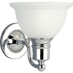 Progress Lighting P3161-15 1-Light Bath Bracket, Polished Chrome Progress Lighting $49