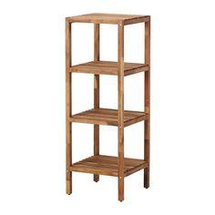 MUSKAN Polcos elem IKEA A nyitott polcok áttekinthetőek és könnyen hozzáférhetőek. Vízálló, így magas páratartalmú helyen is használható.