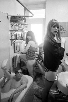 Bruce Conner (in tub), Toni Basil, Teri Garr, and Ann Marshall byDennis Hopper, 1965