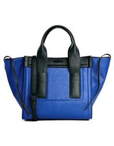 #CalvinKlein Carsten Colour Block City Bag #trend #blackandblue