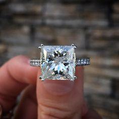 Princess cut diamond, my favorite style.