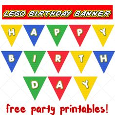 Lego party printables - part 2 - birthday banner |Keeping it Real