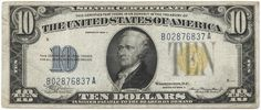 10 Dollars 1934A (Hamilton) Silver Certificate