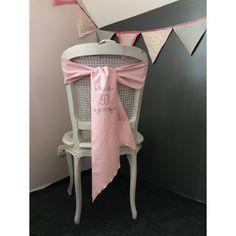 Noeud de chaise en coton Initiale Pailletée - Lucy Jeanne Collection - Décoration de Mariage
