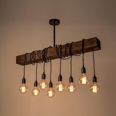 Purchase Farmhouse Wood Beam Chandelier Pendant Light,Bronze from ParrotUncle on OpenSky. Lustre Industrial, Industrial Living, Deco Luminaire, Luminaire Design, Farmhouse Lighting, Rustic Lighting, Dining Room Lighting, Kitchen Lighting, Chandelier Pendant Lights