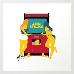 Joy Sticks Art Print by Andy Rohr - $18.00