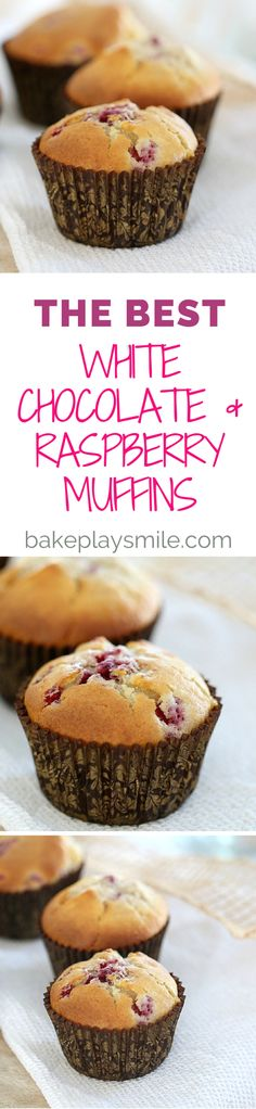 The perfect combination comes together in these deliciously easy White Chocolate & Raspberry Muffins (you wont be able to resist the chunks of chocolate!).