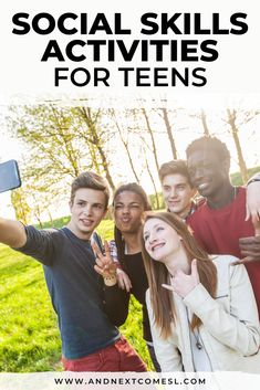 Looking for social skills activities for teenagers? Then you'll definitely want to look through this huge list of social skills activities, games, and worksheets for teens. Great ideas for autistic teens and tweens! #socialskills #teens #teenagers #autism