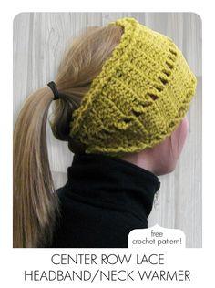 3 New Patterns... and... It's Here! Crocheted Version of the Center Row Lace Headband / Neck Warmer!  AKA PATTERN-PALOOZA!!