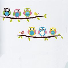 Amazon.com: Removable Home Decoration Nursery Decor Cute Cartoon Owl Pattern Baby Kids Bedroom Wall Decal Stickers: Home & Kitchen