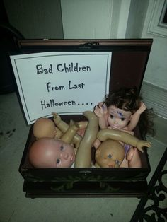 Bad children from last Halloween prop