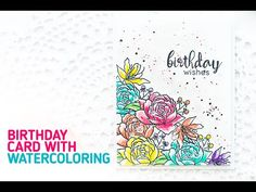 Birthday Card with Masking & Watercoloring (Behind the Scenes Video)   Simon Say Stamp Blog Hop - YouTube