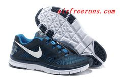 2013 Nike Free Trainer 3.0 Black Refelct Blue #cheap #nike #shoes