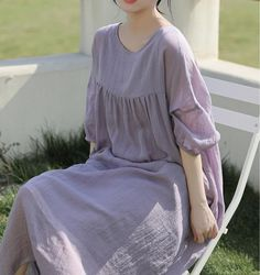 Women summer Ramie long dress, Women's dress Have pockets, Large size robes, cocktail dress, Prom dress Dress Prom, Prom Dresses, Oversized Dress, Blue Maxi, Everyday Dresses, Dress With Boots, Summer Dresses For Women, Cold Shoulder Dress, Dresses With Sleeves