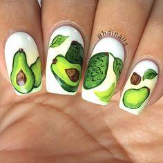 Avocado, anyone? #nailart #nails