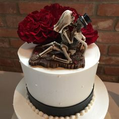 Wedding cake topper, day of the dead style at a friends wedding.