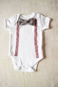 Latvian national costume baby boy onesie / Bow by ThatLittleStore