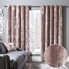 Shiny Velvet Blush 84 Quot Curtain In 2019 Blush Curtains