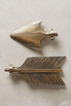 Anthro Home Curtains Bow Arrows Hardware Decorative Accessories